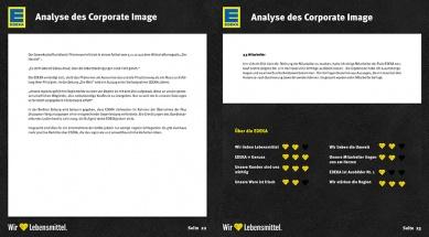 Brandbook EDEKA Analyse Coporate Image