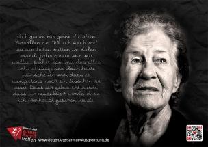 Plakat Kampagne gegen Altersarmut