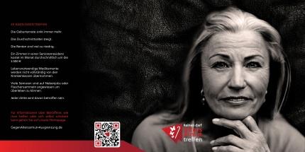 Flyer Kampagne gegen Altersarmut